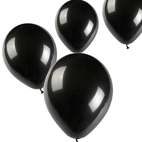 Black And Purple Balloons (Balloons,12 Inches Party Balloons (100 pcs) Color Party Balloons for Birthday, Carnival Festival, Ceremony)