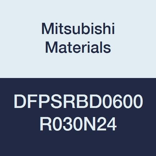 Mitsubishi Materials DFPSRBD0600R030N24 DFPSRB Carbide Corner Radius End Mill 0.3 mm Corner Radius High Precision for Graphite 6 mm Cut Dia 4 Short Flute 24 mm Neck Length 9 mm LOC
