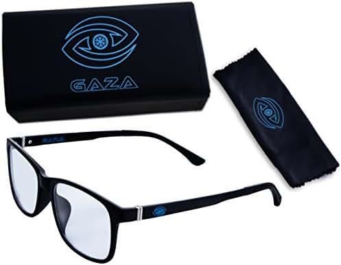 Gaza Premium Computer Glasses - Blue Light Blocking Glasses for Reducing Digital Eyestrain/Fatigue, Better Sleep, Prevent Headaches - Increased Stamina, Performance & Productivity for Work/Gaming