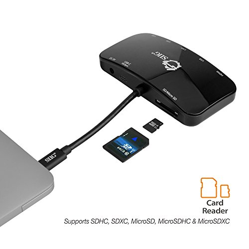 SIIG USB C Dock/Docking Station/Multiport Adapter Hub - Type C to HDMI 4K, Gigabit Ethernet, USB Type C PD(Power Delivery), USB 3.0 Ports, and SD/Micro SD Card Reader for MacBook ChromeBook and more by SIIG (Image #4)