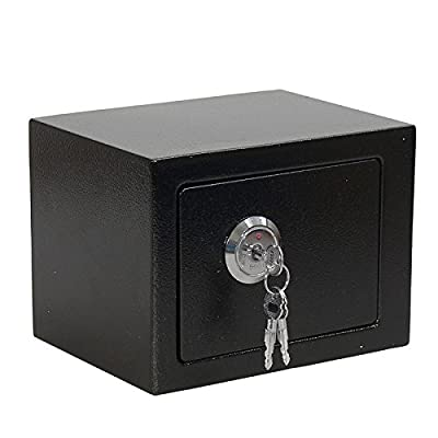 Security Money Cash Safe Box High Double Bitted Key Lock Strong Steel Construction Suitable For Storing Money, Documents, Valuables Etc