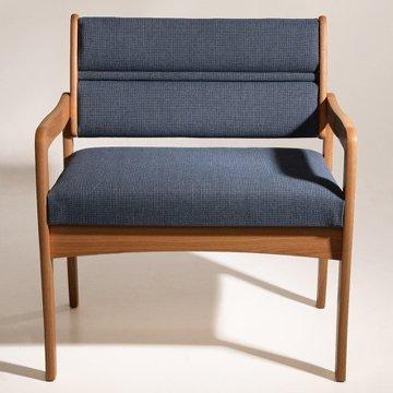 Burgundy Fabric Medium Oak Frame - 9