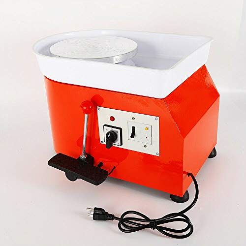 Art Supply Ceramics TBVECHI 350W Electric Pottery Wheel Molding Machine for Ceramic Work Clay Art Craft DIY 110V 3 Types - Reversible Spin Direction - Ceramics Clay Pot, Bowl, Cup, Art (Orange) by TBvechi (Image #3)