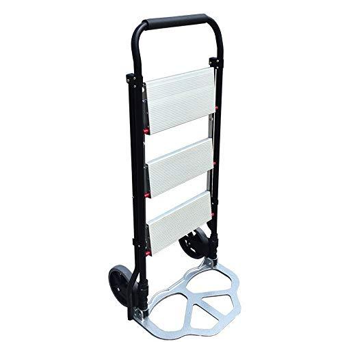 DWhui Antideslizante de 3 Pasos de Aluminio Escalera Plegable Plataforma Stepladder Taburete 100kg Capacidad de Carga...