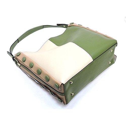 3 Compartment Block Zip Hobo Color Multi Miel Olive top Le EnwXWYOxqa
