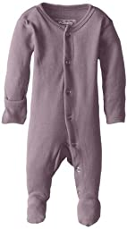 L\'ovedbaby Unisex-Baby Organic Cotton Footed Overall, Lavender, 0/3 Months