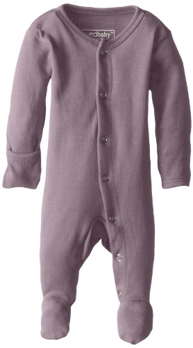 Lavender 9 Months - L'ovedbaby Unisex-Baby Organic Cotton Footed Overall, Lavender, 6-9 Months