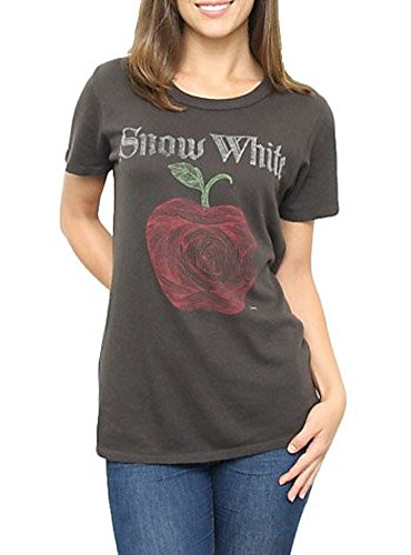 Vintage Snow White (Snow White Vintage Apple Black Wash Juniors T-shirt (Juniors Medium))