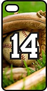 Baseball Sports Fan Player Number 14 Black Plastic Decorative iPhone 5c Case