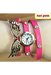 2014 new style fashion ladies watches wing rhinestone gold plated bracelet JEW SJA0846535262CO TYPE 9