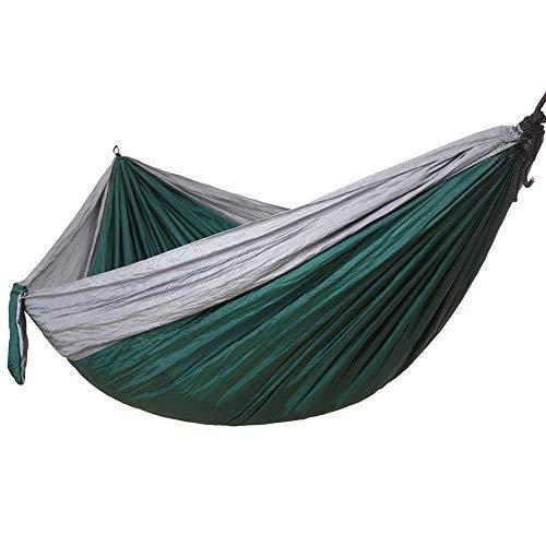 Double Camping Hammock, Portable Lightweight Parachute Nylon Hammock with Straps for Backpacking, Camping, Travel, Beach (Color : F, Size : 270x140cm)