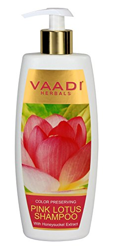 Lotus with Honeysuckle Extract Shampoo - ★ Color Preserving Shampoo - ★ ALL Natural Herbal Shampoo - ★ Paraben Free - ★ Sulfate Free - ★ Scalp Therapy - ★ Moisture Therapy - ★ Suitable for All Hair Types - 11.8 Ounces - Vaadi Herbals (Alcohol Free Herbal Shampoo)