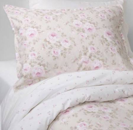 (Simply Shabby Chic Rose Floral Dutchess Blossom 2 Piece Duvet Cover and Sham Set, Size: Twin, Tan with Pink)