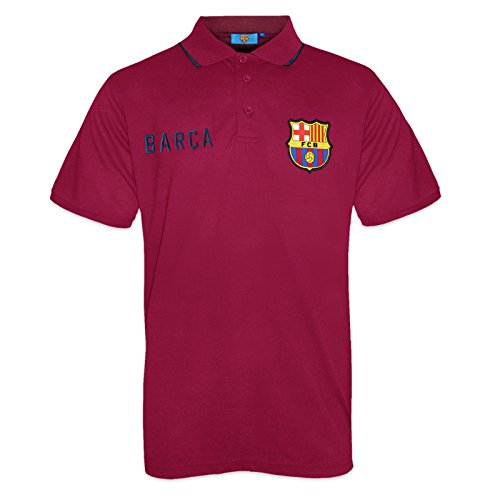 FC Barcelona Official Football Soccer Gift Mens Crest Polo Shirt Red Medium