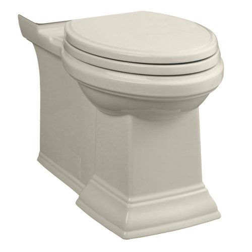 - American Standard 3071.000.222 Town Square Right Height Elongated Bowl with Concealed Trapway, Linen