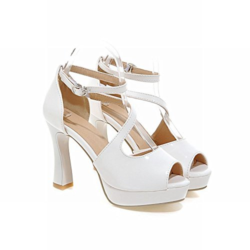 Shoes Charm White High Foot Peep Toe Sandals Womens Dress Platform Heel zqxzwrT1f