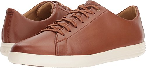 Cole Haan Men's Grand Crosscourt II Sneaker, Tan Leather Burnished, 9 Medium (Burnished Leather)