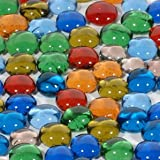 WE Games Replacement Glass Mancala Stones in Assorted Colors