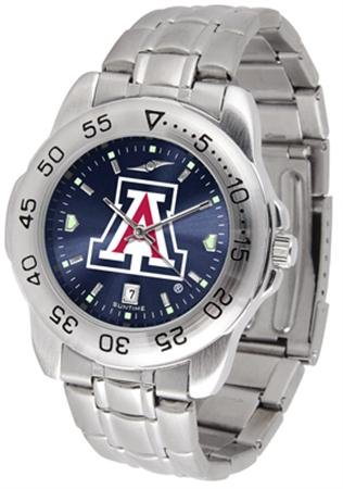 - SunTime Arizona Wildcats Sport Steel Band Ano-Chrome Men's Watch