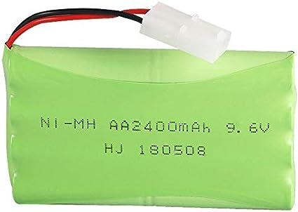ACAMPTAR 9.6V Ni-MH 2400MAh Juguete de Control Remoto IluminacióN EléCtrica Grupo de BateríAs AA