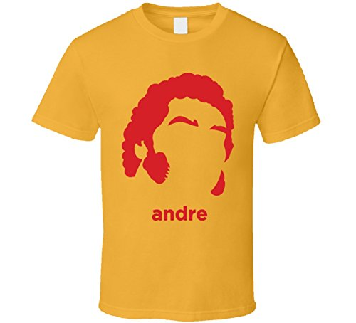 - Andre The Giant Wrestling Retro T Shirt XL Gold