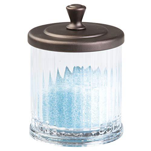 InterDesign Alston Bathroom Vanity Jar – Storage Canister for Cotton Balls, Swabs, Cosmetic Pads, ()