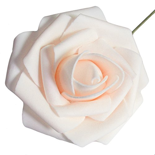 Celebrity Wedding Flowers Centerpieces: Artificial Flowers 50pcs Real Looking Artificial Roses For