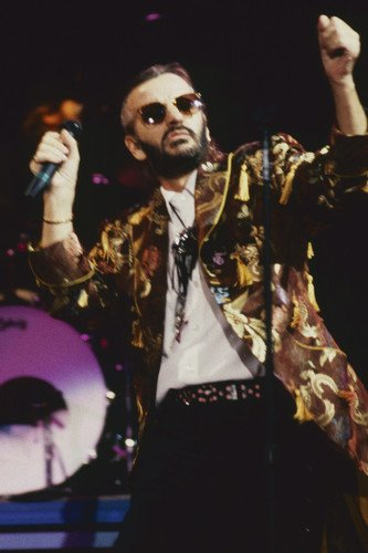 Ringo Starr colorful jacket and sunglasses in concert 1980's 24x36 Poster from Silverscreen