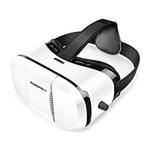 Pasonomi VR Glasses - 3D Virtual Reality Headset for iPhone 7/ 7 Plus/6s/6 plus/6/5, Samsung Galaxy, Huawei, Google, Moto & all Android Smartphone