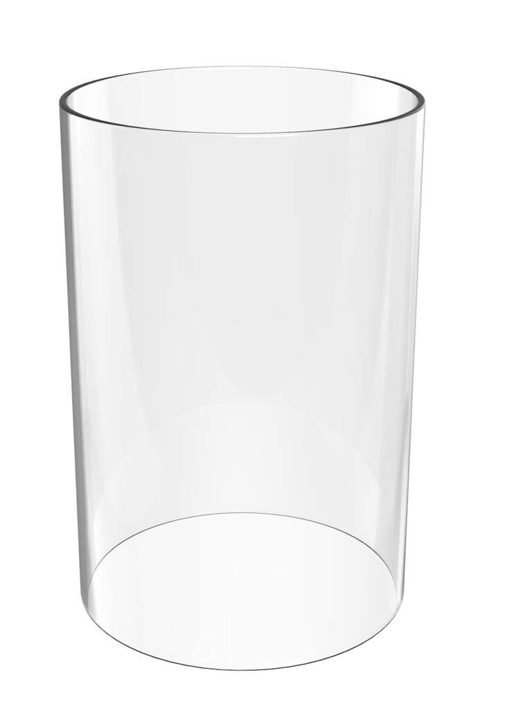 Glass Vase Cylinder- Hurricane Candle Holder Open End - 7'' High 4'' Wide Perfect for MULTIFARIOUS Ceiling Light & Hanging Light FIXTURES Lamp Shades Replacement- (Multiple Specifications)