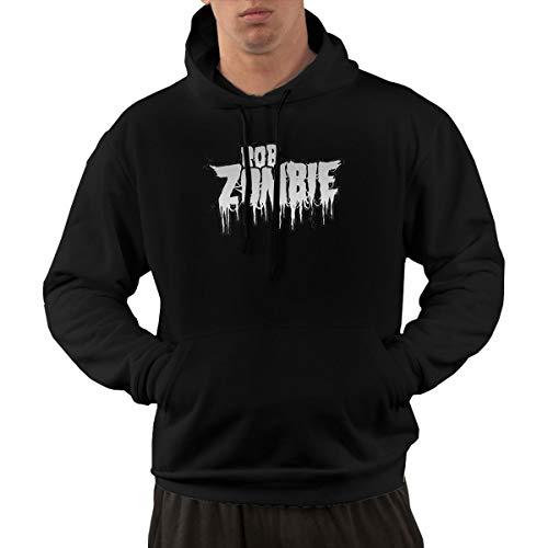 AlbertV Mens Rob Zombie Hoodies Sweater with Pocket XL Black -