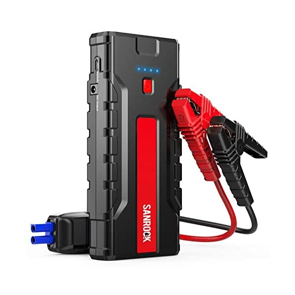 Car Jump Starter, SANROCK Car Battery Charger (8.0L Gas/6.5L Diesel) – 2000A...