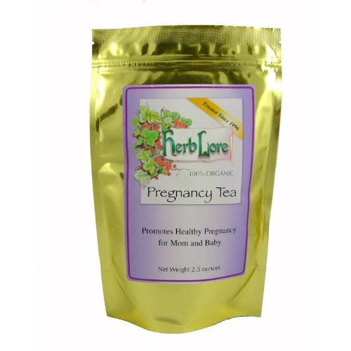 Red Raspberry Herb (Herb Lore Organic Pregnancy Tea - Loose Leaf - 60 servings - Caffeine Free Herbal Tea for Pregnancy with Red Raspberry Leaf)
