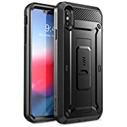 iPhone Xs Max Case, SUPCASE [Unicorn Beetle Pro Series] Full-Body Rugged Holster Case with Built-in Screen Protector Kickstand for iPhone Xs Max 6.5 inch 2018 Release (Black)