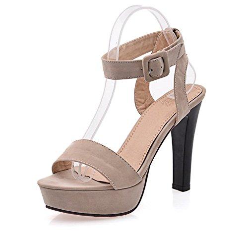 Balamasa Da Donna Open Toe Stile Europeo Sandali Satinati Albicocca