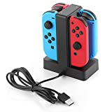 Cheap MYRIANN Nintendo Switch Joy-con Charge Stand, 4 Available Slots and LED Indication for Nintendo Switch Joy-con(Black)