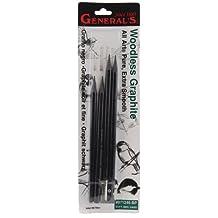 General Pencil Woodless Graphite Pencils, 4-Pack