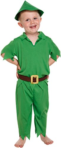 GUBA Little Boys' Peter Pan World Book Day Mischievous Party Costume Toddler 2-4 Years Peter Pan