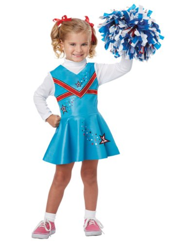 Baby Football Uniform Costume (California Costumes Cheerleader Toddler Costume, 3-4)