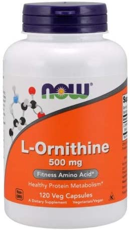 Now Foods L-Ornithine 500 mg – 120 VegiCaps 2 Pack