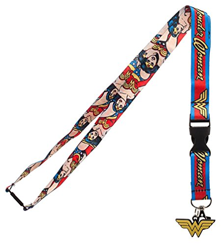 Bioworld DC Comics Wonder Woman Logo Charm Breakaway Lanyard