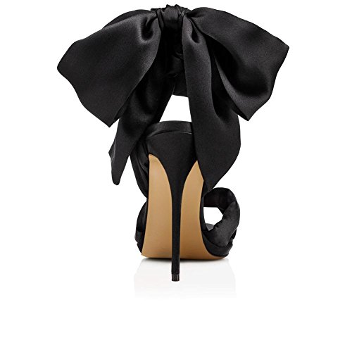High Dress Nightclub Peep Red Toe Sandals Women's Heel Shoes Strap Stiletto Party Sexy Black Black Wedding Ladies Ankle qwnnYaZ