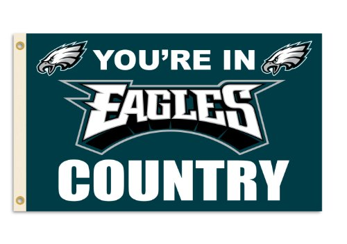 Fremont Die NFL Philadelphia Eagles 3-by-5 Foot in Country - Banner Flag Eagle