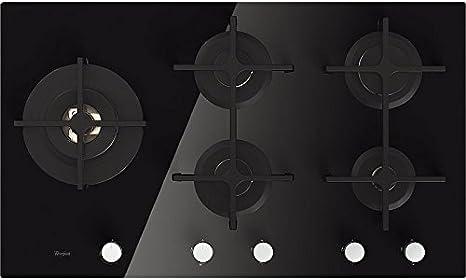 Opinión sobre Whirlpool GOA 9523/NB Integrado Encimera de gas Negro hobs - Placa (Integrado, Encimera de gas, Vidrio, Negro, hierro fundido, 1000 W)