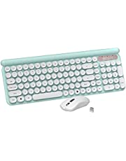 Wireless Keyboard Mouse Combo, 2.4GHz Wireless Connection, Quiet-Typing Laptop Keyboard and Mouse for Desktop/Laptop/PC (Batteries not Included,only one USB Receiver)