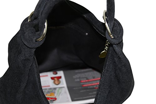 Handbag Bag Women's Shoulder Hobo Tote WL822 Bucket Leather Large Bag Dark Brown Bag Suede Bag UqUx1IpF