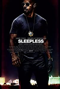 SLEEPLESS (2017) Original Movie Promo Poster - 11x17 - Jamie Fox - Michelle Monaghan