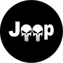 Dee-Type Spare Wheel Tire Cover Fit Jeep Wrangler, Liberty Classic Drill R17