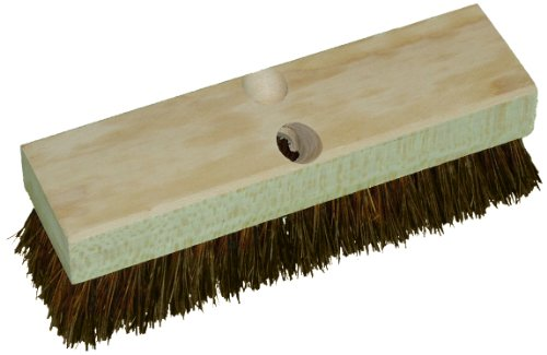 Deck Brush Fiber Palmyra - Zephyr 41410 Palmyra Wood Deck Scrub Brush, 10