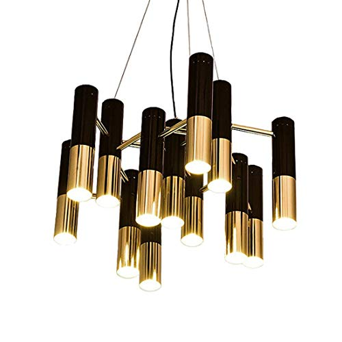 Modern Simple Creative Chandelier Pendant Light Ceiling Lamp Living Room Dining Room Study Bedroom Black Match Gold All Metal Aluminum LED Energy Saving Very Much